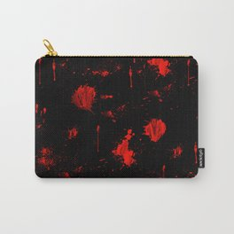 Red Paint / Blood splatter on black Carry-All Pouch