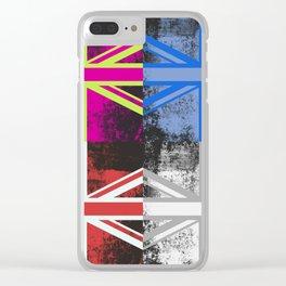 Union Jack Pop Art Clear iPhone Case