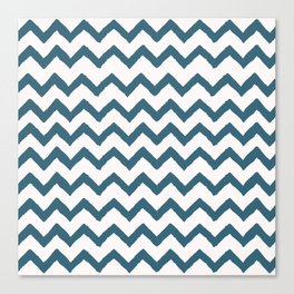 Chevron Teal Canvas Print