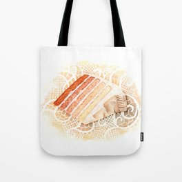 Ombre Cake Slice Tote Bag