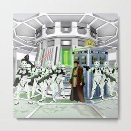 10th Doctor lost in the Galaxy far far away iPhone, ipod, ipad, pillow case and tshirt Metal Print