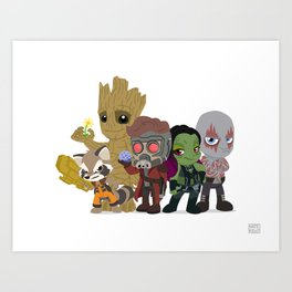 Guarding the Galaxy Art Print