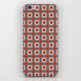V12 Red Traditional Moroccan Rug Pattern. iPhone Skin