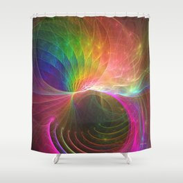 Mobius Bubble Curl Shower Curtain