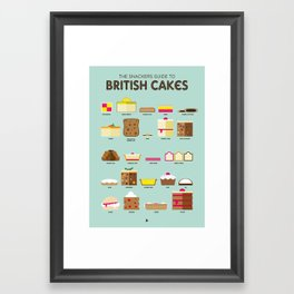 Snackers Guide To British Cakes Framed Art Print