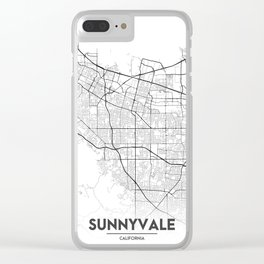 Minimal City Maps - Map Of Sunnyvale, California, United States Clear iPhone Case