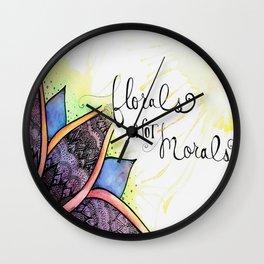 Florals Not Morals Wall Clock