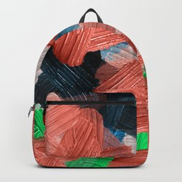 39  | Abstract Expressionism| 210210| Digital Abstract Art Textured Oil Painting Backpack