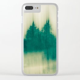 Winter Tree Abstract Clear iPhone Case