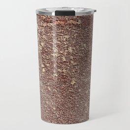 Burgundy Sandpaper Texture Travel Mug