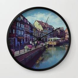 Petit Venise in Colmar, Alsace, France, Travel Photography Wall Clock