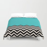 waves Duvet Covers featuring Follow the Sky by Bianca Green