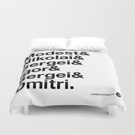 Russian Composers v2 Duvet Cover