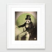 panda Framed Art Prints featuring Proper Panda by Chase Kunz