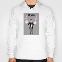 tesla Hoodies featuring Tesla by Designs By Misty Blue (Misty Lemons)