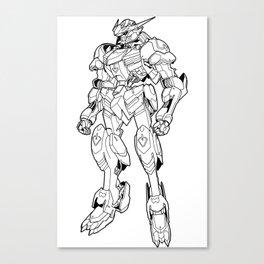 Gundam Barbatos Outline Black Canvas Print