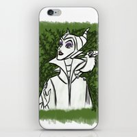 maleficent iPhone & iPod Skins featuring Maleficent by carotoki art and love