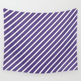 Ultra Violet Tight Diagonal Stripes Wall Tapestry