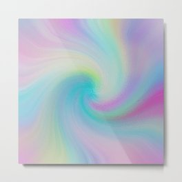 Soft Swirl Pattern Metal Print