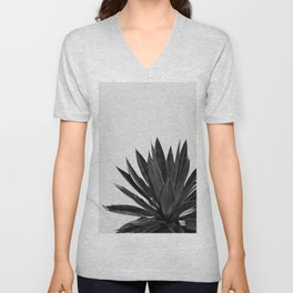 Agave Cactus Black & White Unisex V-Neck