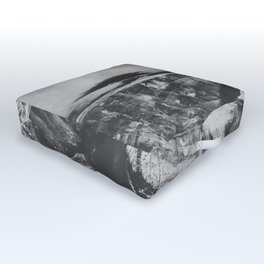 Southwest Starry Night Black and White Outdoor Floor Cushion