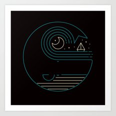 Moonlight Companions Art Print