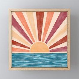 Warm Sunset on the Ocean  Framed Mini Art Print