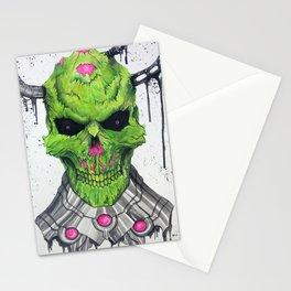 Brainiac Skull Stationery Cards
