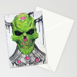 Brainiac Skull Stationery Cards