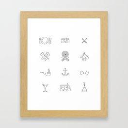 Hipster's Day Framed Art Print