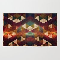 polygon Area & Throw Rugs featuring Polygon by Tony Vazquez