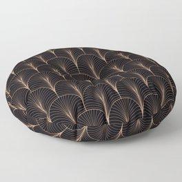 Art Deco Midnight Pattern Gold Black Floor Pillow