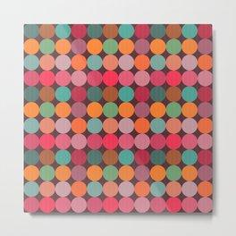 Candy Circles Polka Dot Pattern Metal Print