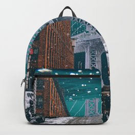 New York City and the Manhattan Bridge Underwater Backpack