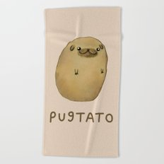 Pugtato Beach Towel