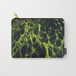 Yellow Cells on Black Velvet Carry-All Pouch