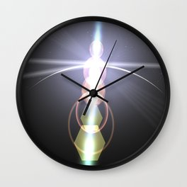 close to the moon lens flare Wall Clock