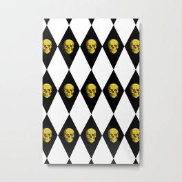 Diamond skulls Metal Print
