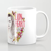 allison argent Mugs featuring Queen Argent by Grit Spit and a Whole Lot of Duct tape