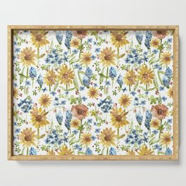 Wildflower Watercolor Serving Tray