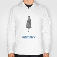 aquarius Hoodies featuring Aquarius by Cansu Girgin