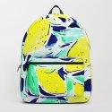 Bold Lemons Blue by mjmstudio