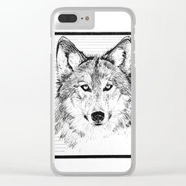 Le Loup Clear iPhone Case