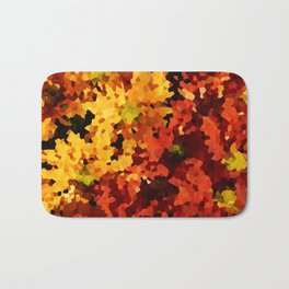 Yellow and Red Sunflowers Bath Mat