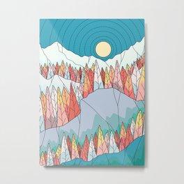 An autumn forest landscape Metal Print