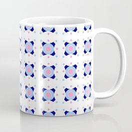 Symmetric patterns 142 Dark and light blue Coffee Mug