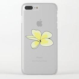Frangipani Plumeria Flower Clear iPhone Case