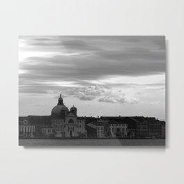 Giudecca at sundown in black and white Metal Print