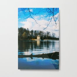 Möhne Reservoir Lake Tower Metal Print