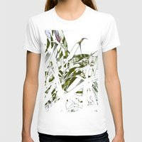stark T-shirts featuring Leaves - Stark by Boris Burakov